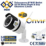 TELECAMERA di Videosorveglianza IP Wifi Per uso Esterno WIRELESS Senza Filo Con 36 LED IR INFRAROSSI Per La Visione Notturna Con Audio Bidirezionale ingresso Micro SD