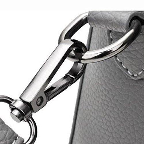 Modo Delle Signore Della Borsa Di Alta Shoulder Bag Messenger Bag Sacchetto Della Borsa Casuale,Gray RedBeanPaste