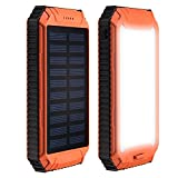 Generic 12000mAh Solar Power Bank Charger Waterproof Portable Backup External Battery Pack