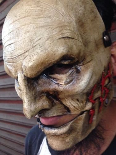COREY TAYLOR MASK SLIPKNOT NEW MODEL FIBERGLASS THE GRAY (Slipknot Masken)