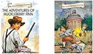 The Adventures Of Huckleberry Finn :Illustrated Abridged Classics (Om Illustrated Classics)+The Adventures Of
