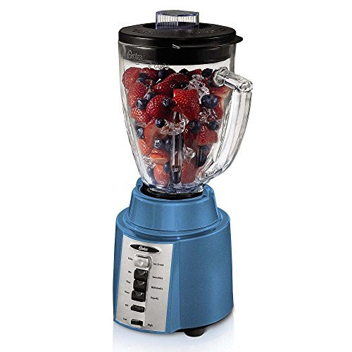 Oster Bccg08 450w 8-speed 6-cup Blender, Blue, With Ice Crushing Blade