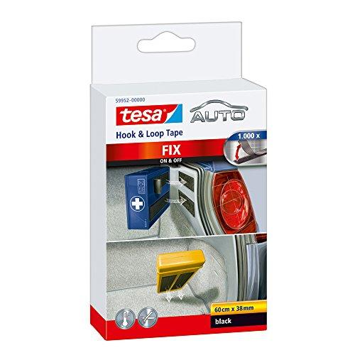 tesa Klett Befestigung fürs Auto, selbstklebend, 60cm x 38mm