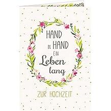 Grußkarte - Hand in Hand: Zur Hochzeit