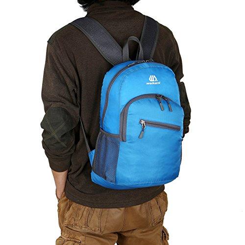 18l zaino Zaino leggero resistente all' acqua ripiegabile pieghevole escursionismo campeggio Outdoor Travel Cycling School, Red Blue