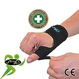 4Dflexisport Apoyo para el pulgar (Single) Metal Spica férula NON-SWEAT máxima comodidad en hipoalergénico non-rash. Reversible izquierda o derecha one-easy-size Fit. Unisex.