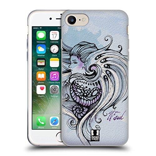 Head Case Designs Schwarz Und Weiss Dynamische Streifen Soft Gel Hülle für Apple iPhone 7 / iPhone 8 Wind