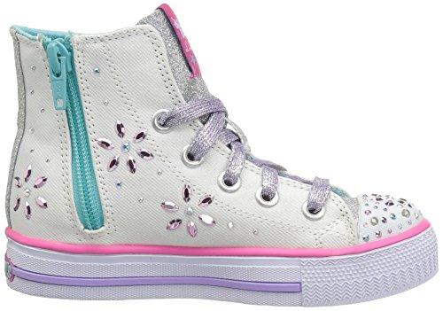 Skechers  Shuffles, Sneakers Basses fille Blanc (Wmlt)