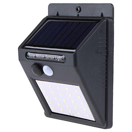 Demiawaking Led À Énergie Solaire Lumière Détecteur De Mouvement Pir Applique Murale Extérieur Étanche Lampe