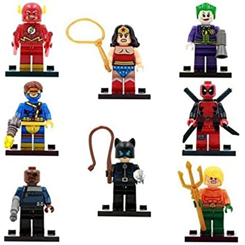 The Avengers Marvel DC Super Heroes Series Building Blocks Sets Minifigure Bricks Toys Compatible With Lego 8Pcs/Set SY178 (No box, no card) by