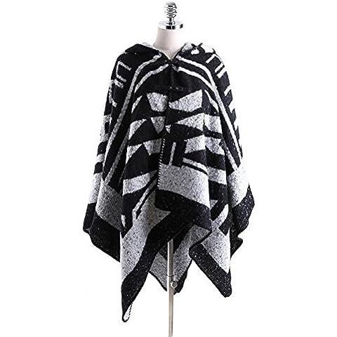 ZZHH Cappotto donna mantelle in lana giacca Cape