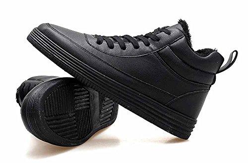 Uomini All'aperto Caldo Scarpe Da Ginnastica 2017 Autunno Inverno Casuale In Cima Formatori Fur Lined Andare Con Lo Skateboard Scarpe Black