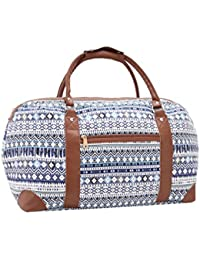 Quenchy London Travel Holdalls - 30 COLOURS - Weekend Overnight Bags - Medium Size Holiday Duffle Bag - Ideal Ladies Gym Kit - Hand Luggage Cabin Baggage 50 cm x 30 x 25, 35 Litres QL216M