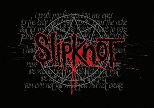 Heart Rock Licensed Bandiera Slipknot - Splattered, Tessuto, Multicolore, 110X75X0,1 cm
