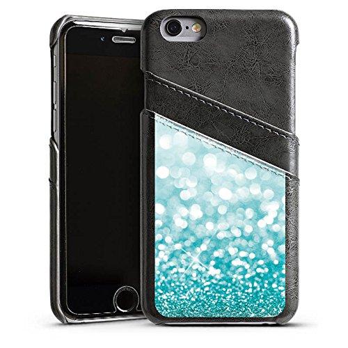 Apple iPhone 4 Housse Étui Silicone Coque Protection Paillettes Brillance Bling-bling Étui en cuir gris