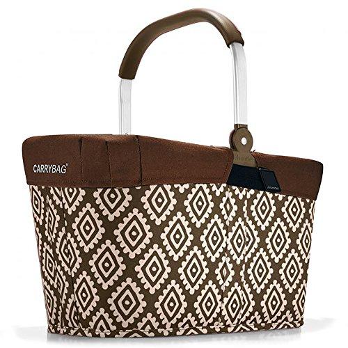 reisenthel - EXKLUSIVES ANGEBOT! carrybag + GRATIS passendes cover ! Einkaufskorb Einkaufstasche (diamonds mocha) -