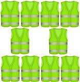 niboline 50 Stück Warnweste Pannenweste Sicherheitsweste Neon Gelb Warnwesten Unfall-Weste 360-Grad-Sichtbarkeit Prowiste® Knitterfrei, Waschbar - Sicherheit-Weste Weste KFZ EN 471