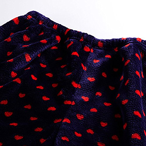 YouPue Damen Pyjama Hausanzug Flanell Verdicken Pyjamas Schlafanzug Lange Ärmel Warm Sleepwear Nachtwäsche Homewear Frauen Niedlich Rot