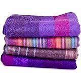 Coperta/copriletto extra soffice. Vari colori disponibili. Letto matrimoniale., Purple (viola) - EC3001-PL