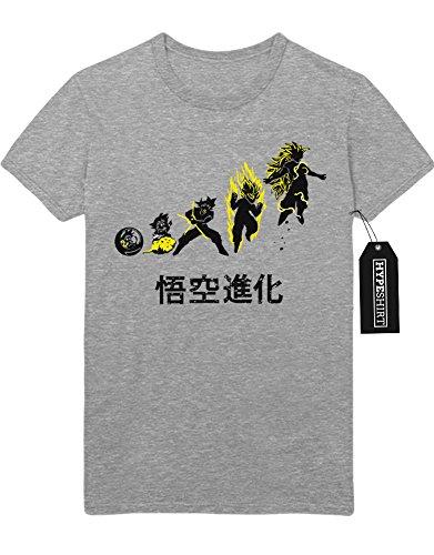 """T-Shirt Dragonball """"SON GOKU TRANSFORMATION STEPS"""" C500008 Grau"""