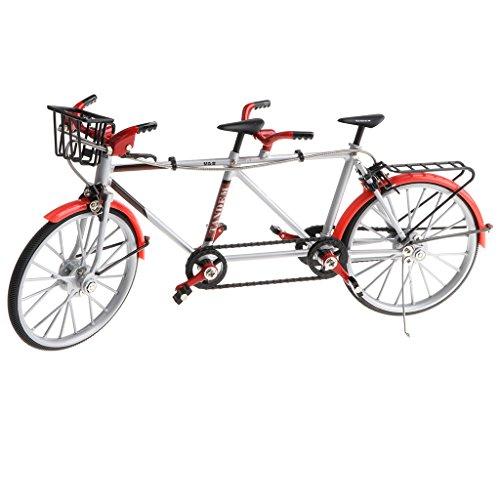 1:10 Modelo Bicicleta Tándem Aleación Bici Carrera