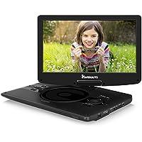 12,5 Zoll Tragbarer DVD Player Full HD 1080P Video IPS Bilschirm 178° Blickwinkel NAVISKAUTO 1920x1280 Drehbarer Bildschirm 4-5 Stunden Akku Auto Fershener (12002, Keine Kopfstützenhaltung)