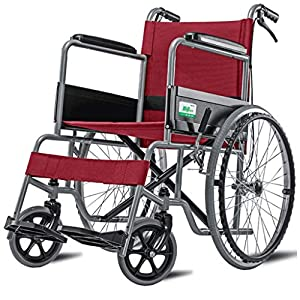 Wheelchair Elderly wheelchair Folding lightweight wheelchair Aluminum alloy wheelchair Disabled wheelchair