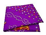 PEEGLI Jahrgang Indischen Gedruckten Sari Lila Seide