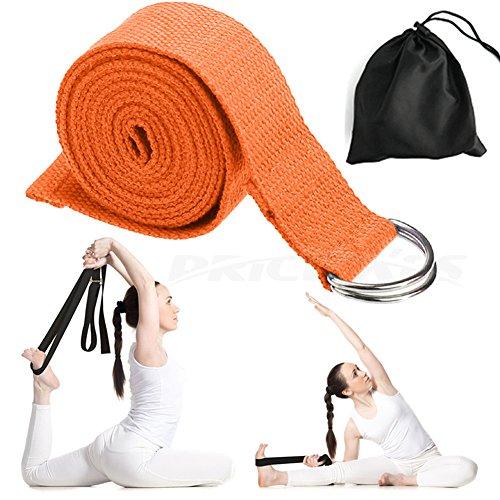 Preis XES Yoga Gurt–langlebig Baumwolle Übung gibt Riemen 6ft Träger–verstellbar D-Ring Schnalle Stretching Flexibilität für Yoga Stretching & Allgemeine Fitness Physikalische Therapie Pilates Gym Training, orange