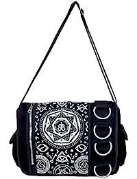 Prohibido Pentagram negro bolsa tipo bandolera de