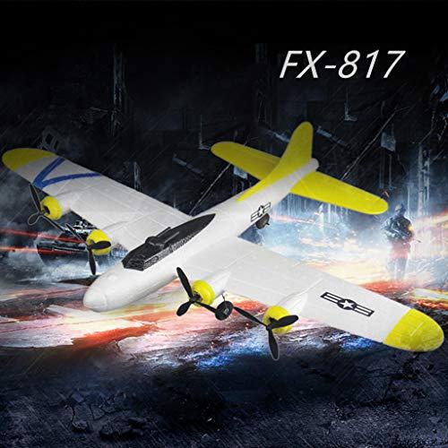 TianranRT★ Uav Drohne,Fx-817 2,4 Ghz 2Ch Spannweite Epp Rc Bomber Simulation Flugzeug Modell Spielzeug Neue Coole Kreative Fernbedienung Flug,Gelb -