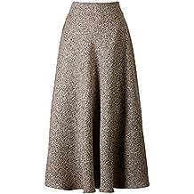 addb14c2b6b9c Scothen Femme A-Ligne Jupes+T-Shirt de Laine Jupes Vintage avec Taille