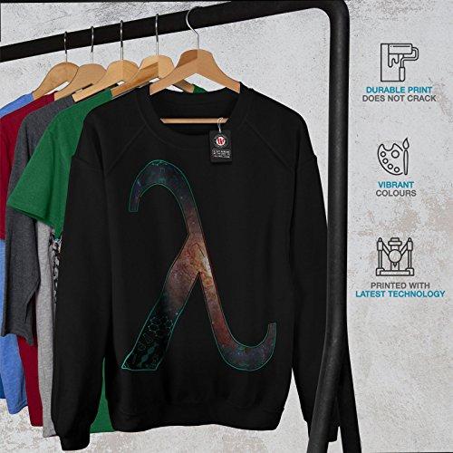 lambda Espace Nerd Intelligent Femme S-2XL Sweat-shirt | Wellcoda Noir