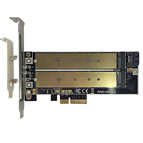 GLOTRENDS M 2 PCIe NVMe or PCIe AHCI SSD to PCIe 3 0 x4 and M 2 SATA SSD to  SATA