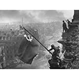 Khaldei War WWII USSR Flag Over Reichstag Photo Large Wall