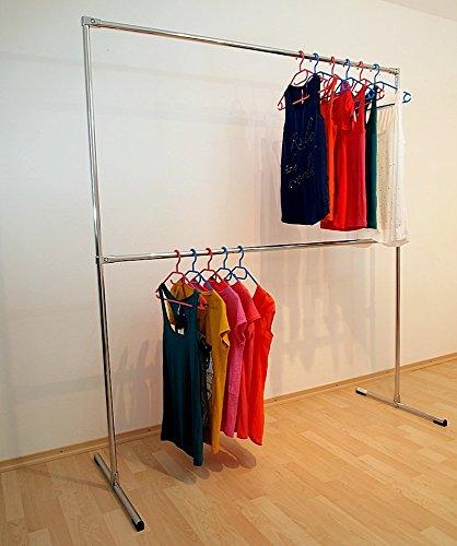 raff 150x180x60 Profi KLEIDERSTÄNDER KLEIDERSTANGE Garderobe FREISTEHEND-G180