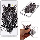 Coque Samsung Galaxy A3 2016 (A310),Samsung Galaxy A310 Etui TPU,ZHXMALL Premium Flexible Souple Silicone Ultra Mince Lége Transparent Case Slim Gel Couverture Housse Protection Anti rayures AntiChoc Pare-chocs Coque pour Samsung Galaxy A3 2016 - Fleur noir