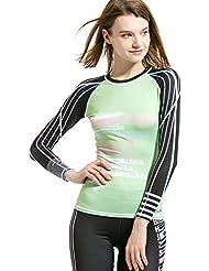 Rashguard Femme, plongée et voile Encolure ras du cou Rashguard de protection solaire pour homme pour femme Sports