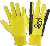 Kookaburra Padded Cotton Full Finger Yellow Mesh Wicket Keeping Inner Gloves NEW