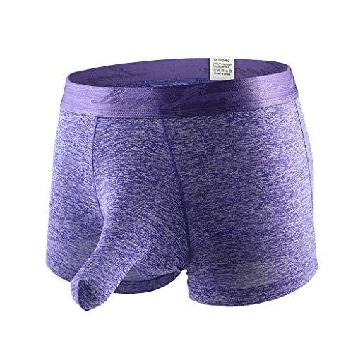MAYOGO Sexy Boxershorts für Herren,Baumwolle Ausbuchtung Retroshorts Höschen Panties Slips für Männer,Atmungsaktive Weiche Gemütlich Sport Unterwäsche