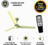 Gorilla energy saving 5 star rated 1400 mm Ceiling Fan with remote control and BLDC Motor- Ivory