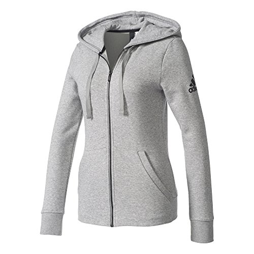 adidas Damen Essentials Solid Sweatshirtjacke Mgreyh