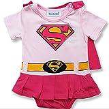 Pink Supergirl (0–24meses) bebé niña body/Fiesta Disfraz/disfraz/traje