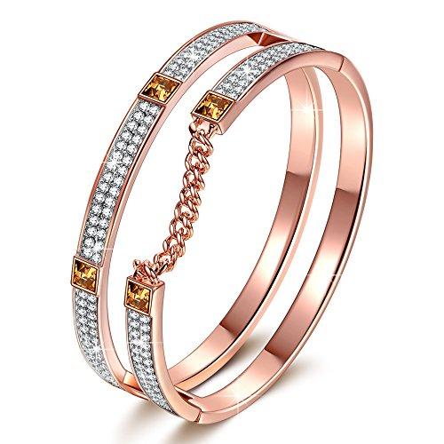 J.NINA London Impression Armband Damen mit kristallen von Swarovski Rose Gold Schmuck Geschenk Geburtstagsgeschenke Weihnachtsgeschenke Muttertagsgeschenke...