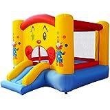 COSTWAY Aire de Jeux Gonflable de Motif de Clown Trampoline Château Gonflable avec Toboggan pour Enfant en Tissu Oxford Equipée de Filet Protecteur 300 x 225 x 175
