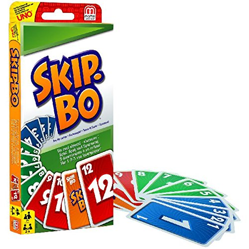 - 517jEi2xzYL - Mattel 52370-0 – Skip-Bo, Kartenspiel + Mattel W2087 – Uno, Kartenspiel
