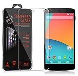 Cadorabo DE-106041 LG Google Nexus 5 Gehärtetes (Tempered) Display-Schutzglas in 9H Härte mit 3D Touch Glas Kompatibilität Transparent