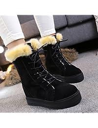 NSXZ version coréenne de bottes en cuir mat femmes au sein de la pente supérieure avec double fermeture éclair de la mode féminine à fond épais, plus les bottes de velours , 90 160cm