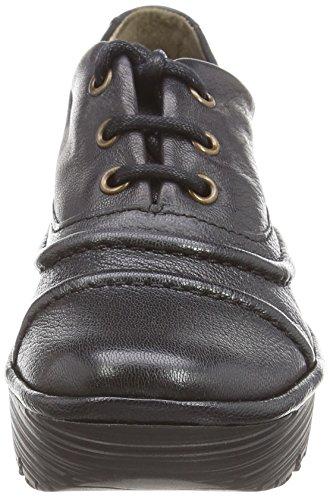 FLY London Rako, Chaussures brogues à lacets femme Noir - Noir