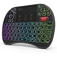 Rii (Nouveauté) Mini Clavier X8 Wireless Français (AZERTY) Ergonomique sans Fil avec Touchpad - pour Smart TV, Mini PC, HTPC, Console, Ordinateur